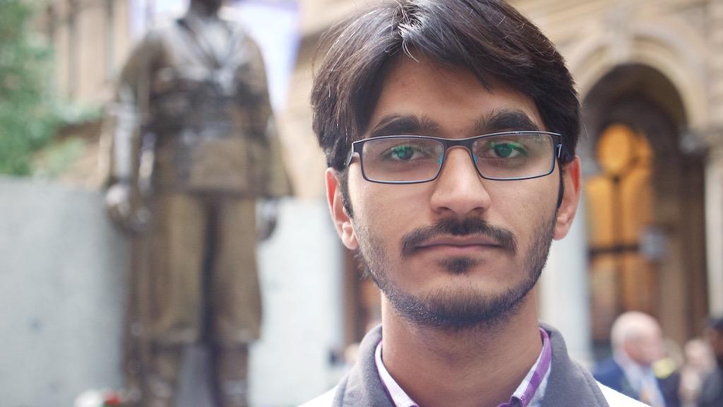 Pakistan-born Ahmedi Navid Ahmed, 23. (Ehsan Knopf/9NEWS)