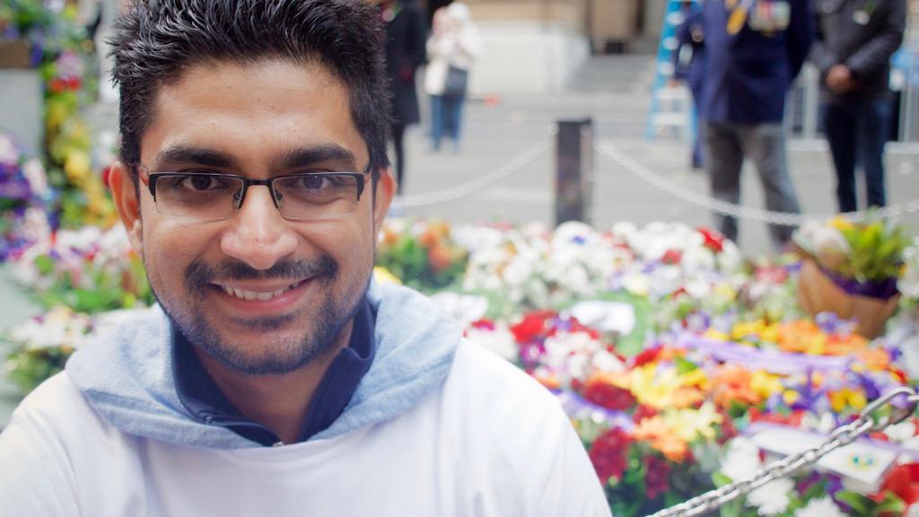 Sydney coordinator Tariq Ahmad. (Ehsan Knopf/9NEWS)