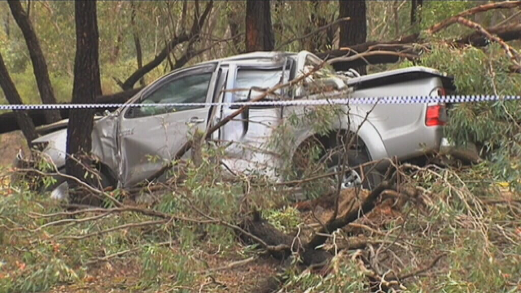 The car found dumped in Benalla, Victoria. (9NEWS)