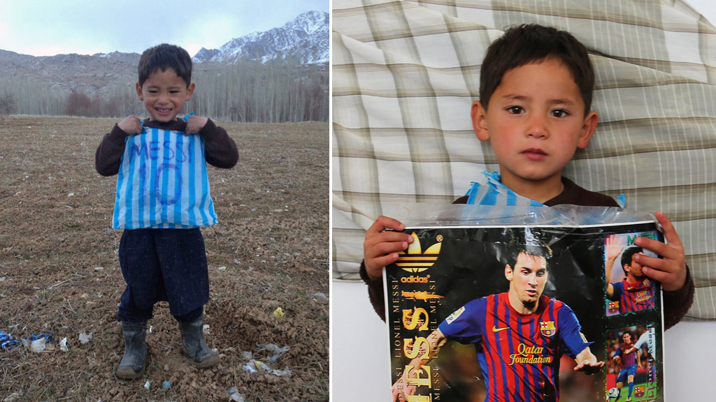 Murtaza is a dedicated Lionel Messi fan. (AFP)