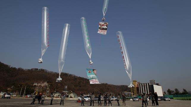 North Korea bombarding South Korea with human waste