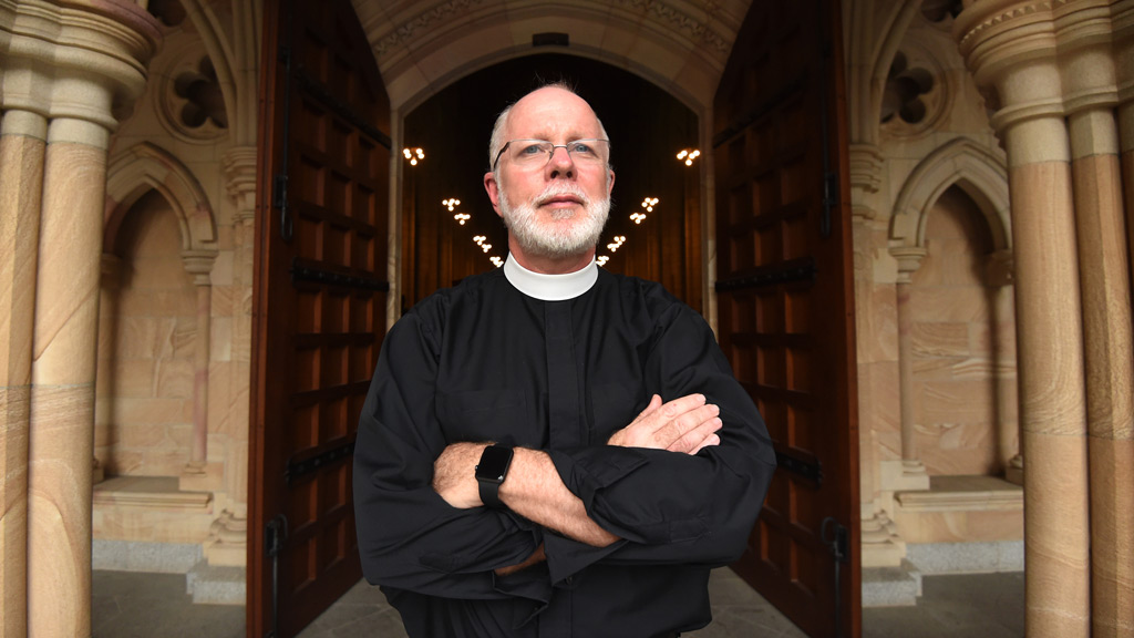 The Anglican Dean of Brisbane, the Very Reverend Dr Peter Catt of Brisbane. (AAP)