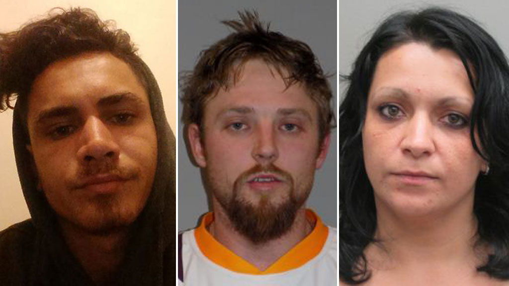 Lelan Harrington (left), Cory Breton (centre) and Iuliana Triscaru (right) are all missing from Logan in Queensland. (Supplied)