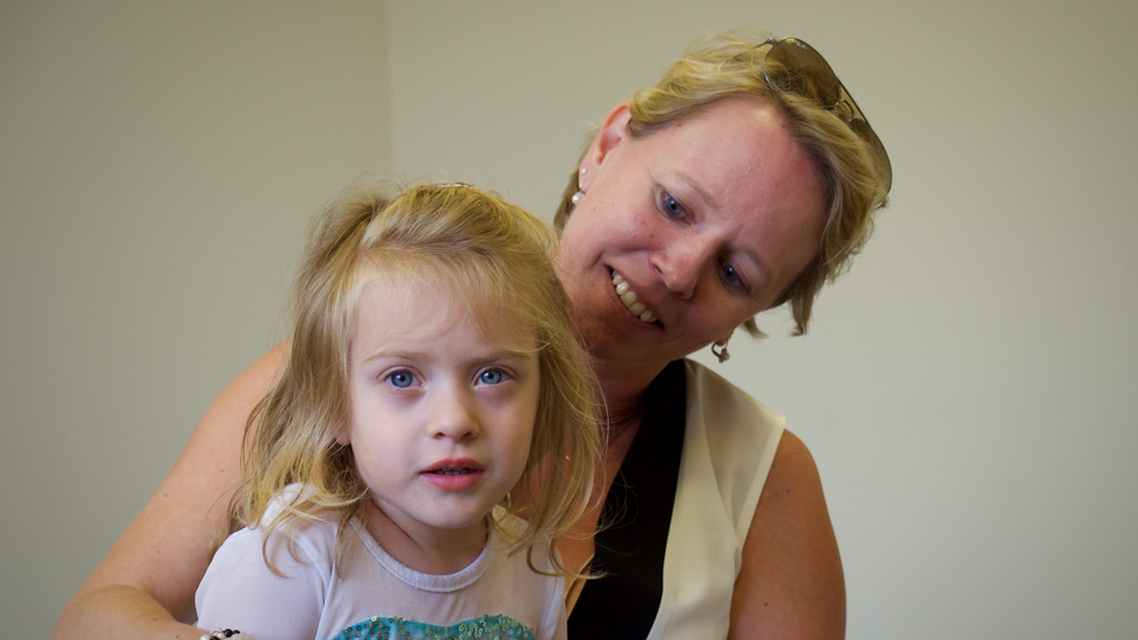 Aspire clinical director and founder Dianne Verstappen with Marissa. (Ehsan Knopf/9NEWS)