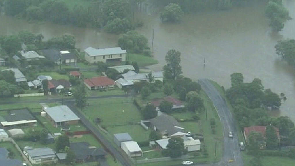 Flooding in Dungog. (ABC)