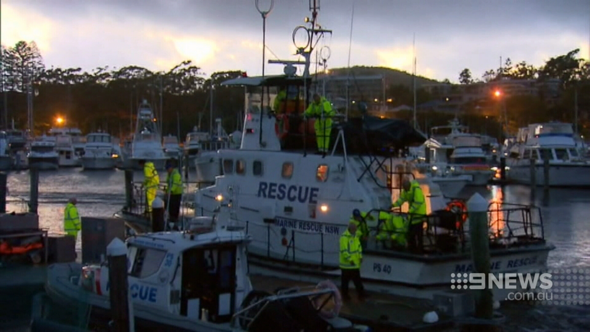 An air and sea rescue has failed to find Mr Lennon. (9NEWS)