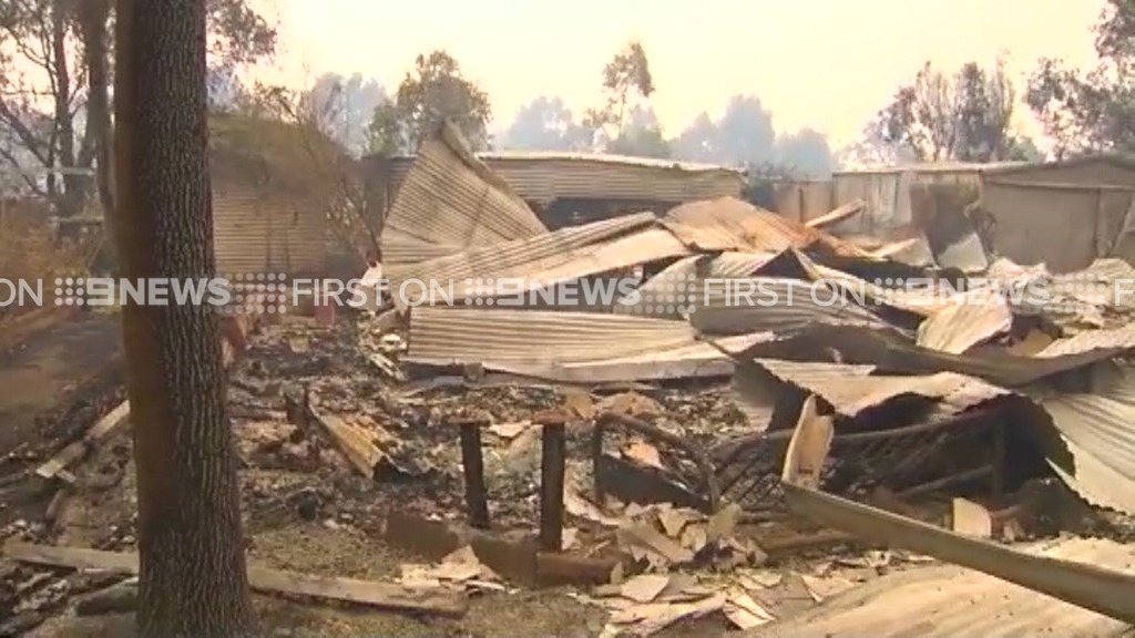 Many of the buildings are barely recognisable. (9NEWS)