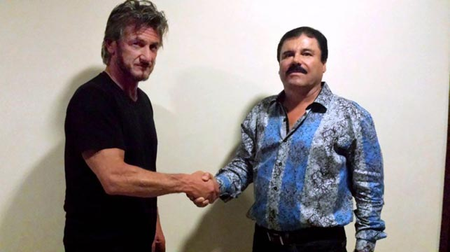 Sean Penn (left) and Guzman. (Sean Penn)
