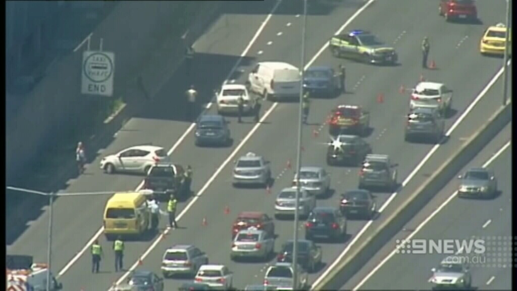 Traffic was brought to a standstill. (9NEWS)