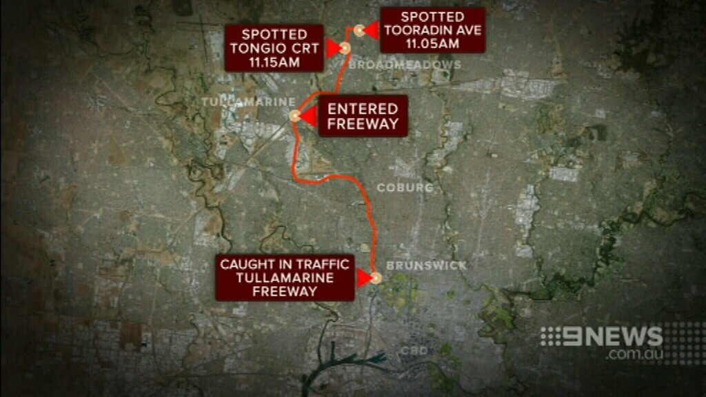 Police tracked the van from Broadmeadows. (9NEWS)