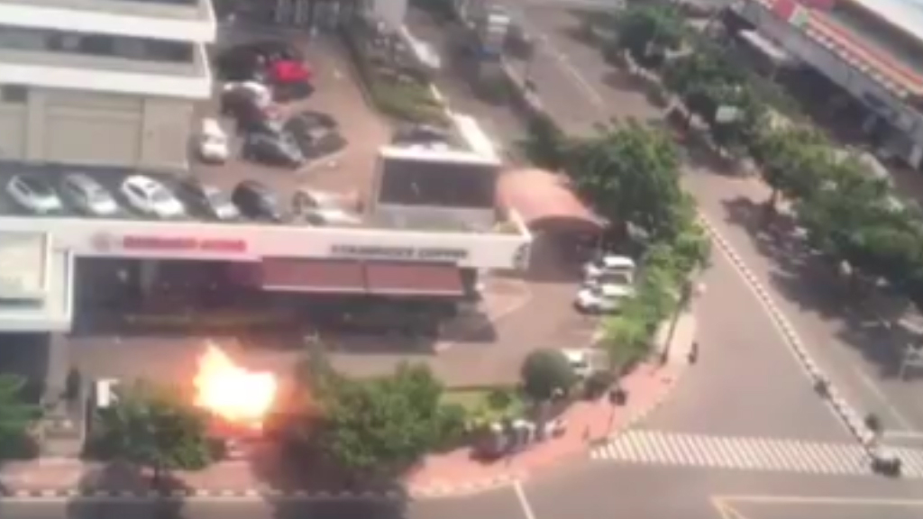 <p>At least four people have been killed following a series of attacks in the Indonesian capital.</p><p>Suicide bombers and gunmen carried out attacks on a Starbucks café and a nearby police post. </p><p>Reports say between four and seven people have died in the attacks.</p>