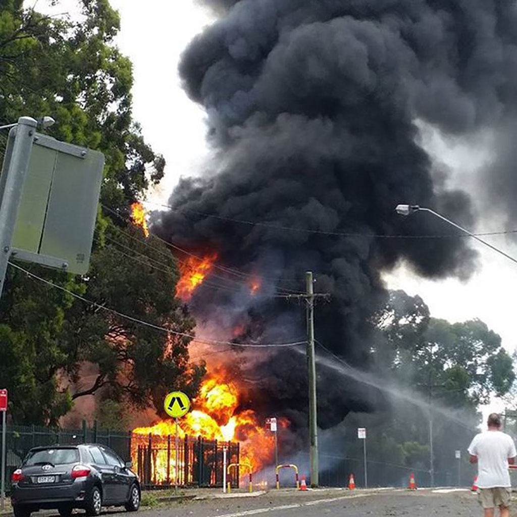 East Hills Girls High School was damaged by fire. (Laura Ashleigh)