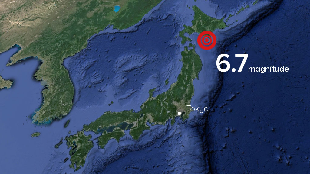 Powerful earthquake with preliminary magnitude of 6.7 rocks northern Japan