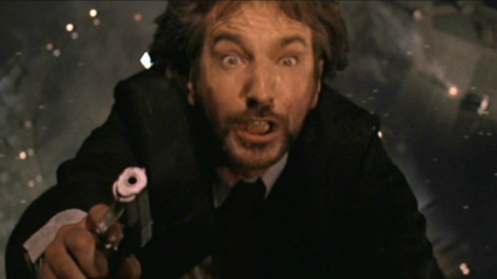 Rickman's first major Hollywood role was as German villain Hans Gruber in Die Hard.