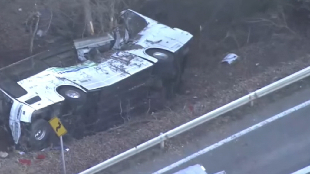At least 14 are dead after the crash. (9NEWS)