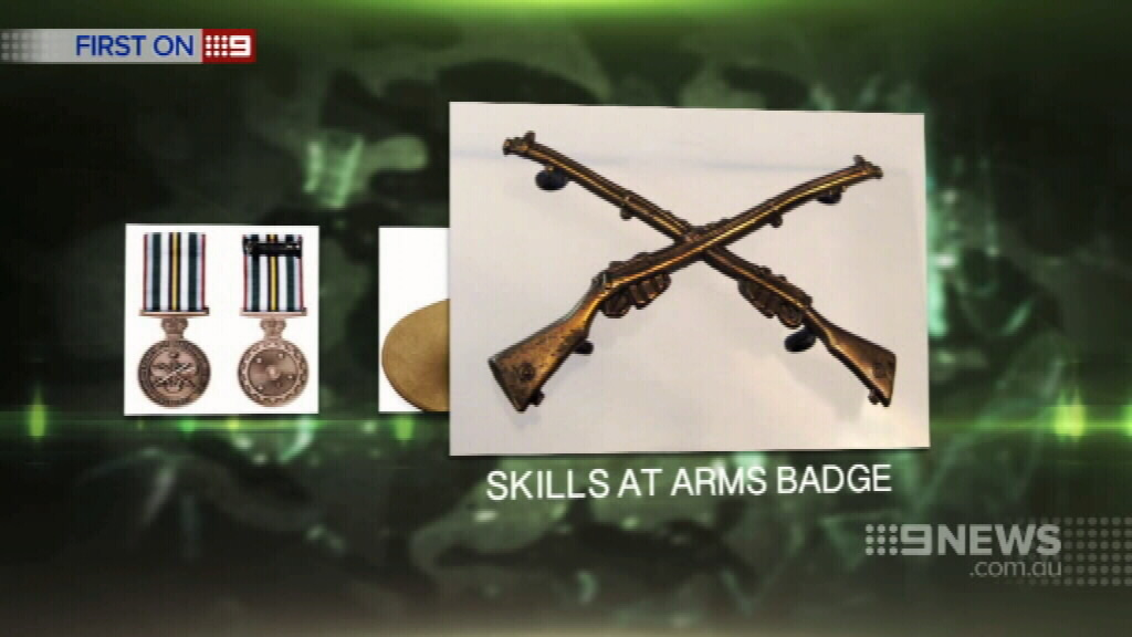 Along with a Skill at Arms badge. (9NEWS)