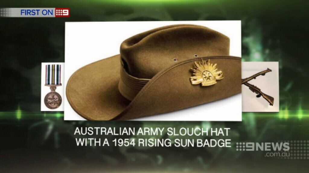 The thieves also made off with a slouch hat. (9NEWS)
