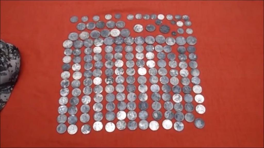 Silver antique coins. (YouTube/Aquachigger)