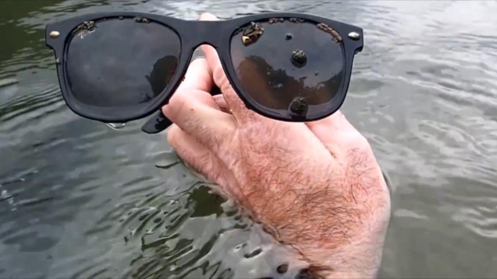 A pair of sunglasses. (YouTube/Aquachigger)