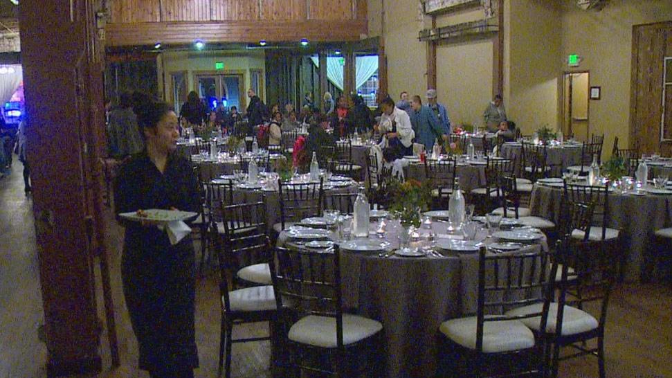 Ms Olsen's reception at SoDo Park. (KOMO)
