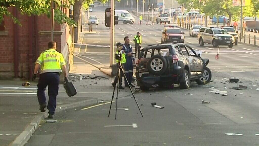 The scene of the crash. (9NEWS)