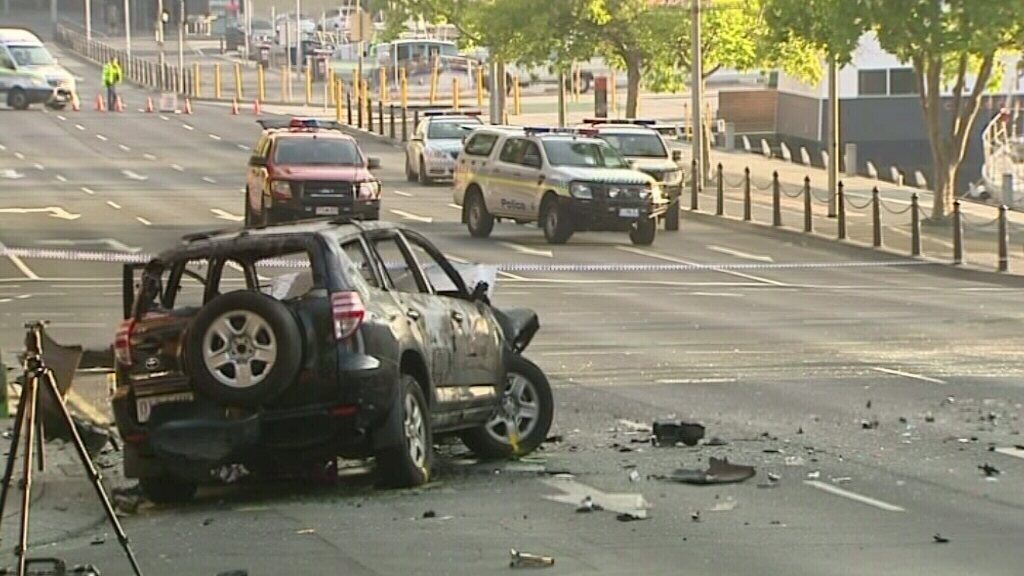 The SUV involved in the crash. (9NEWS)