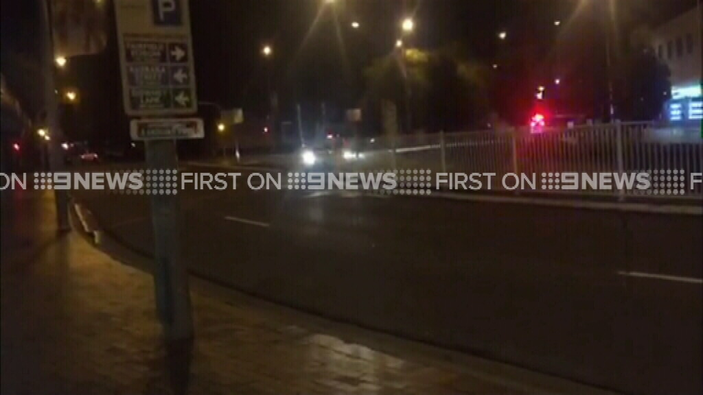 The dramatic pursuit was caught on camera. (9NEWS)