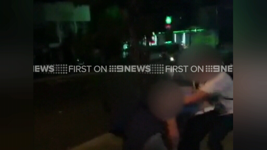 The attack occurred just metres from the Cronulla police station. (Supplied)