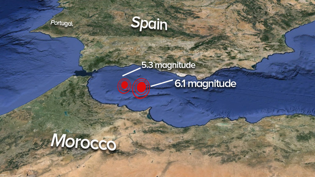 Strong 6.1 magnitude earthquake strikes between Spain and Morocco