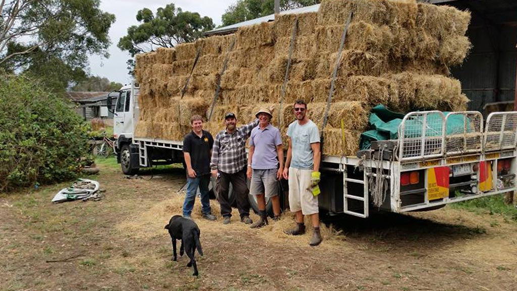 Victorian volunteers to spend Australia Day delivering hay to farmers in need