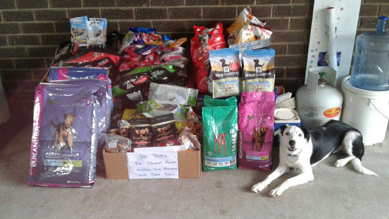 Need for Feed are also welcoming donations of food for farmer's dogs. (Facebook/ Need for Feed Disaster Relief)
