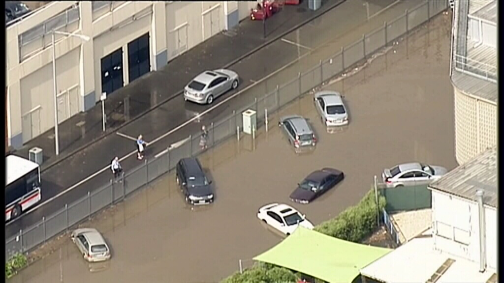 Once-in-a-century deluge floods parts of Geelong