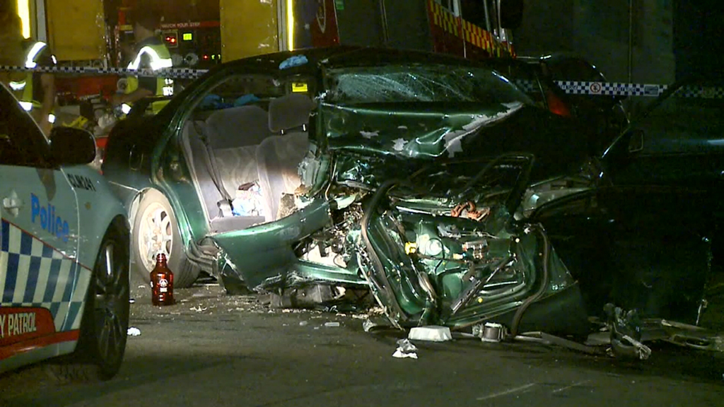 Two cars collide following police pursuit in Sydney's inner west