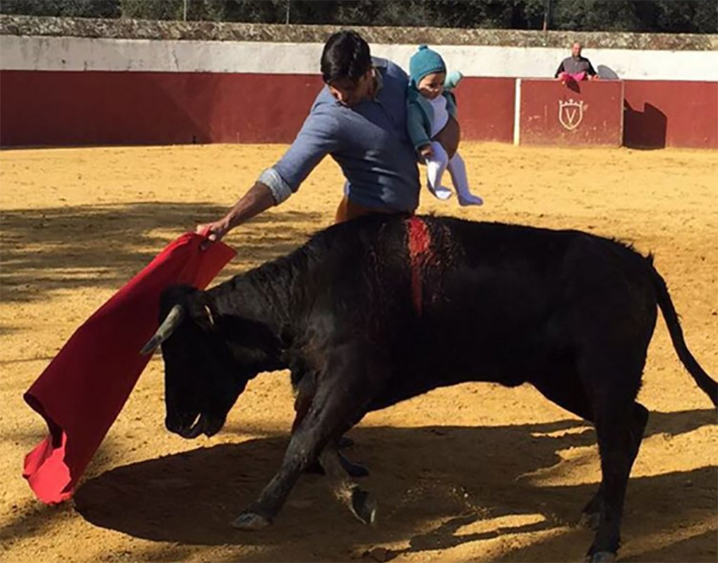 "Francisco Rivera Ordóñez posted this image to Instagram with the caption: "" Carmen's debut, it is the 5th generation of bullfighting in our family. My grandfather bullfighting with my father. My father bullfighting with me, and I have done it with my daughter Cayetana and now with Carmen."""
