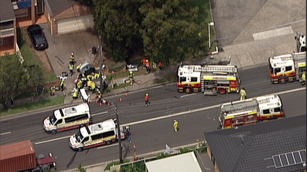Police confirmed the 91-year-old pedestrian died following the crash. (9NEWS)