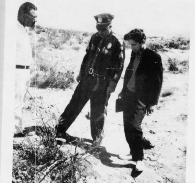 CIA file photo of unknown investigation into UFO sighting. Source: CIA.
