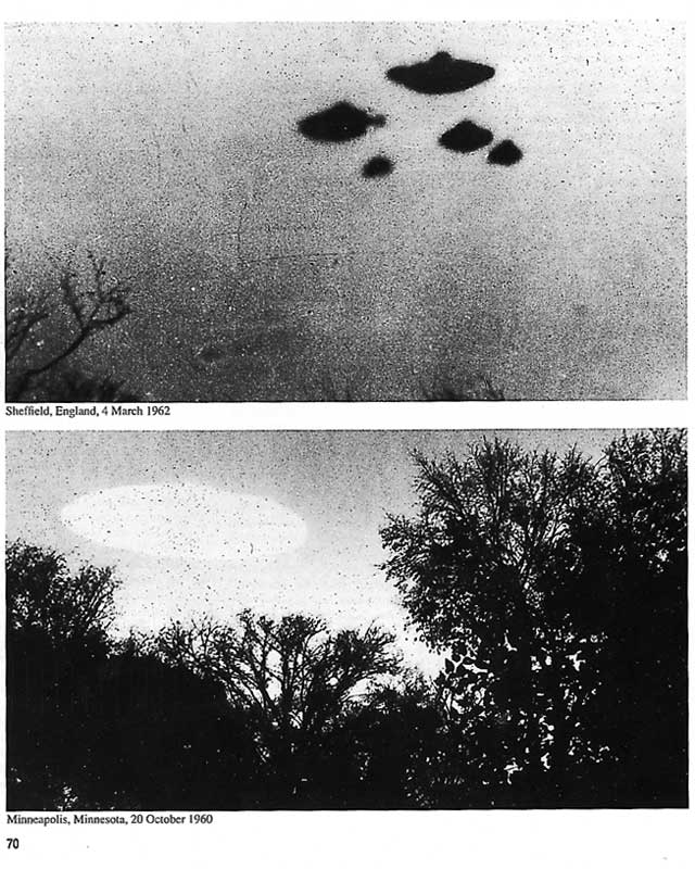 CIA file photos of unidentified objects in the sky over Britain. Source: CIA