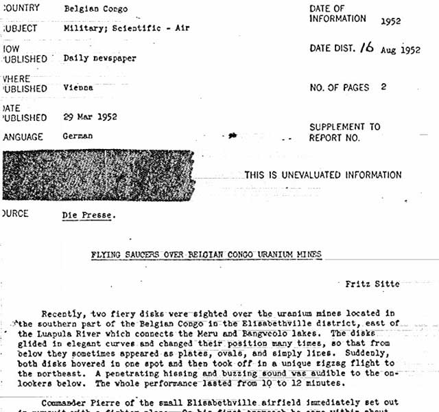CIA releases secret UFO reports and photos for X-File fans to chew over