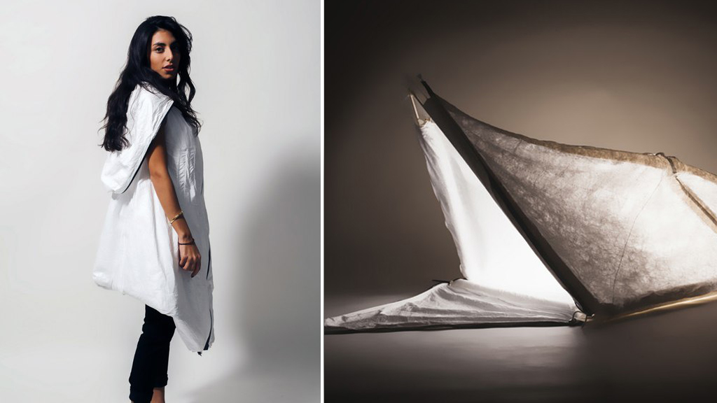 Design graduates create 'wearable shelter' for Syrian refugees