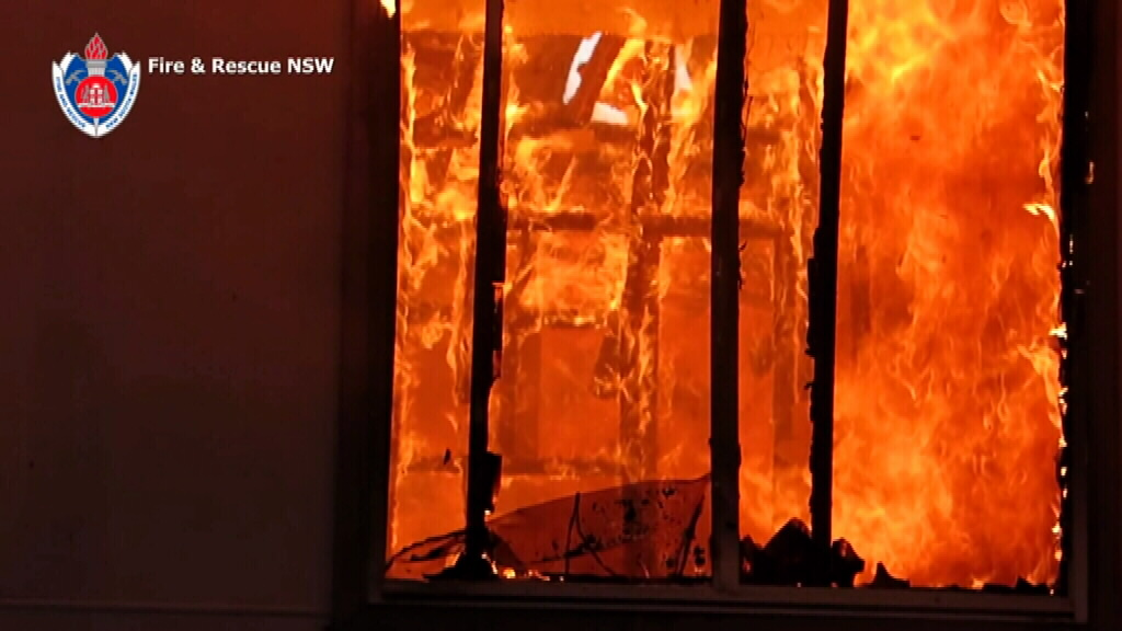 The Lakemba house was gutted by the flames. (Supplied)