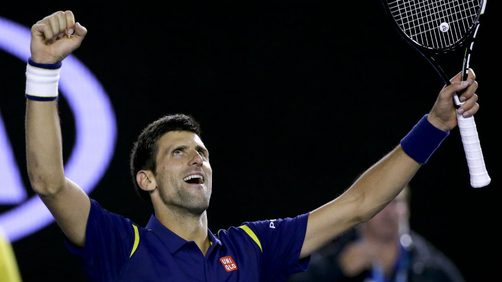 Novak Djokovic celebrates his sixth Australian Open crown.