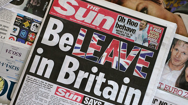 The might of The Sun has thrown its weight behind Leave.