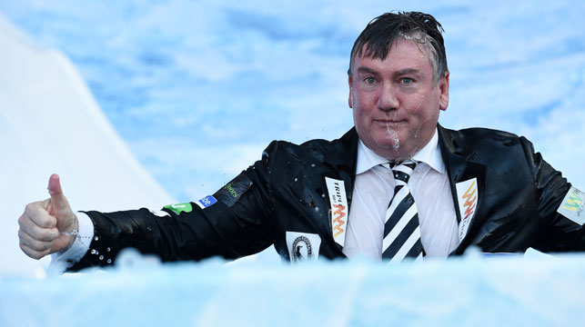 Eddie McGuire at the Big Freeze at the G. (AAP)