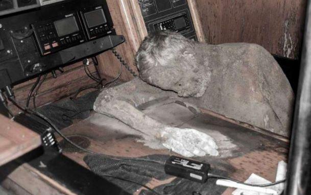 The mummified body of Manfred Fritzl Bajorat.