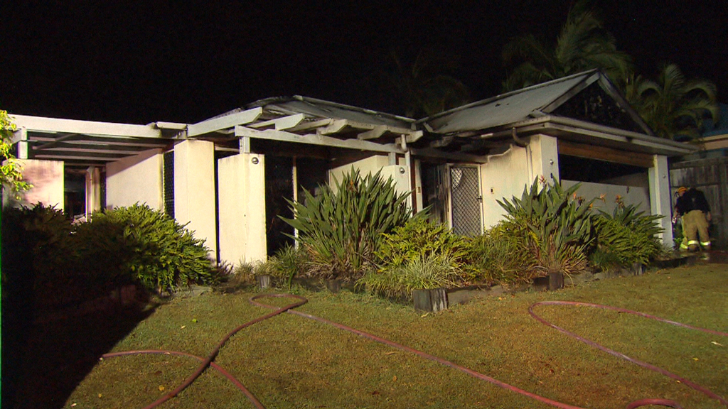 The property was completely destroyed from the blaze. (9NEWS)