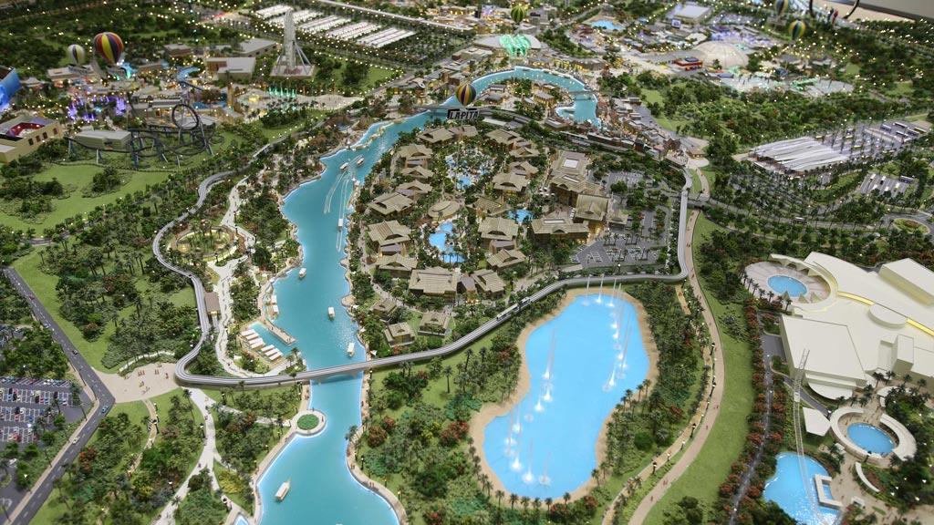 Model of Dubai's $3.7 billion mega theme park unveiled