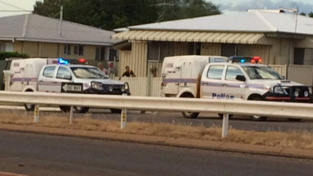 Police at the scene in Mount Isa.