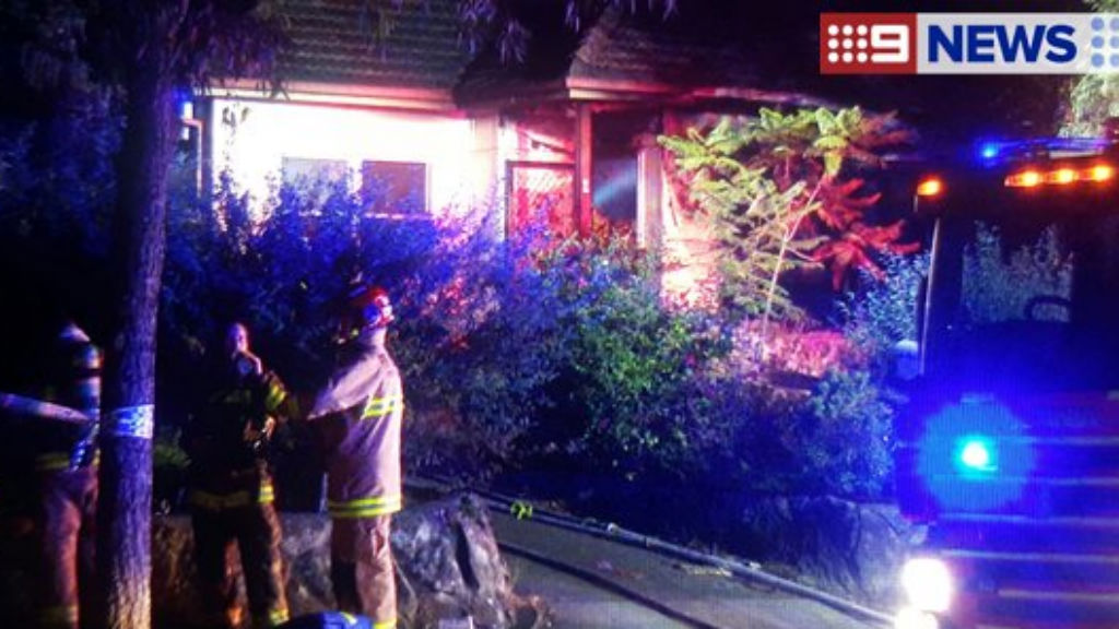 The house was well alight when firefighters arrived. (9NEWS)