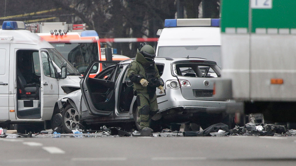 One dead after suspected car bomb explodes in Berlin