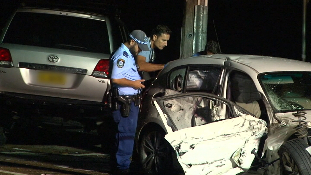 Two men are in police custody after a pursuit overnight involving a stolen car. (9NEWS)